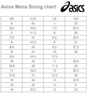 Asics Herrstorlekar