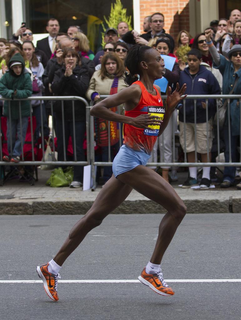 Rita Jeptoo i Nike Streak Foto: BU News Interactive