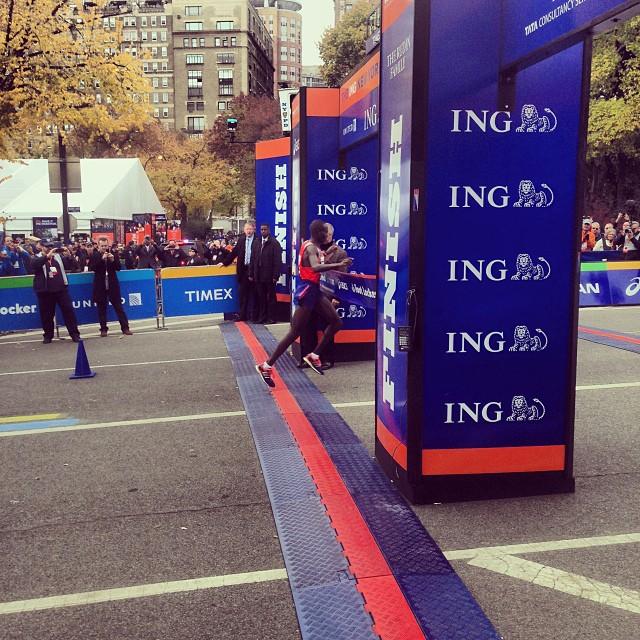 Geoffrey Mutai - ING New York City Marathon 2013. Foto: INGNYCMartahon instagram