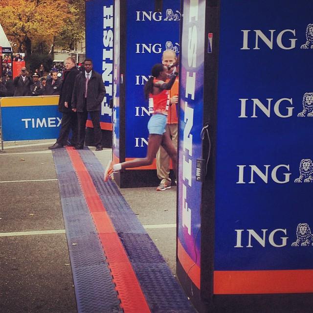 Priscah Jeptoo - ING New York City Marathon 2013. Foto: INGNYCMarathon instagram.
