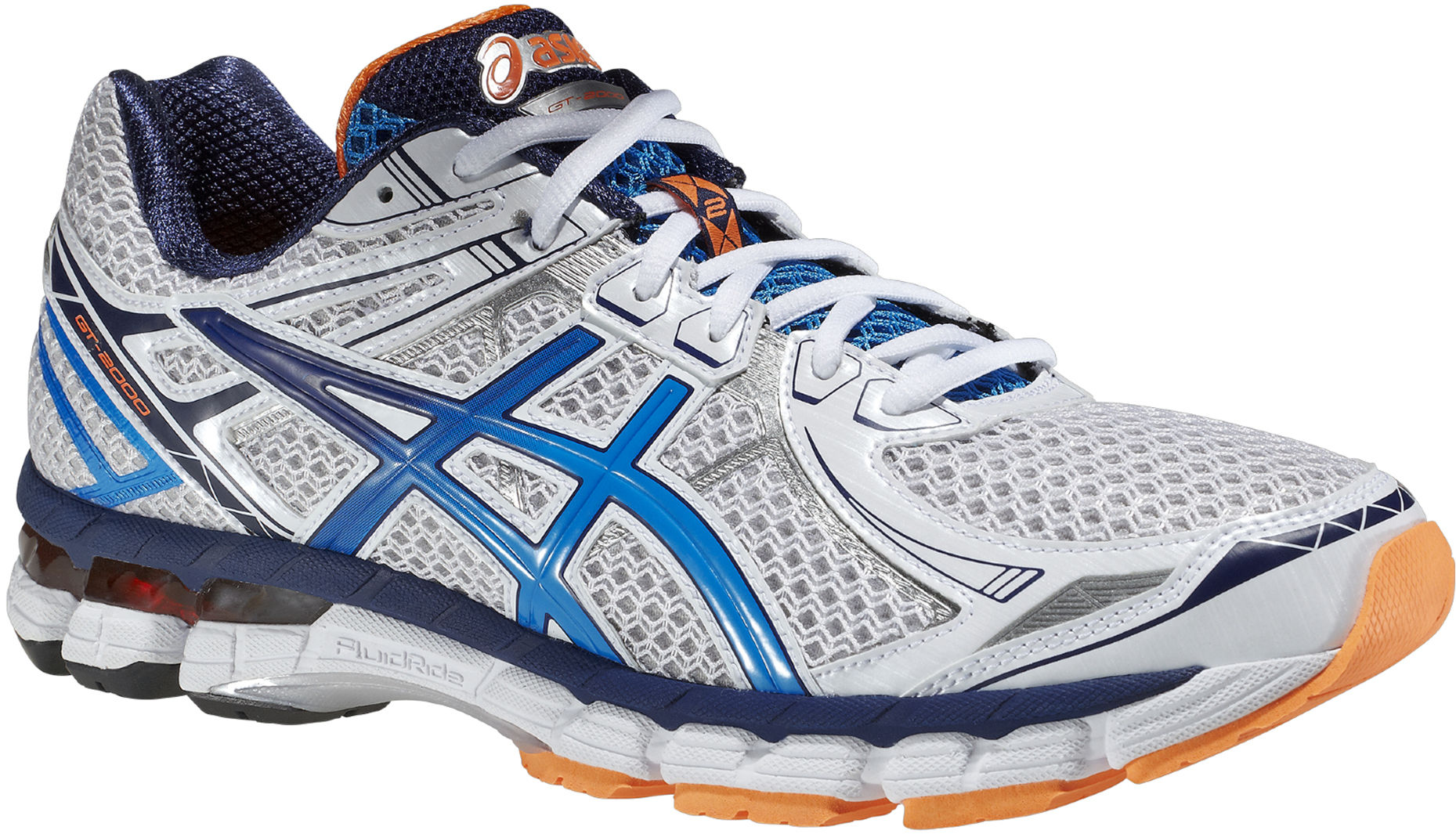 Asics GT-2000 2 - Herr - T3P3N-0148 - White / Silver / Orange (Höst/Vinter 2014)
