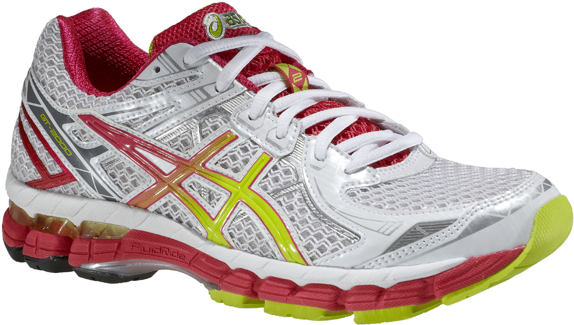 Asics GT-2000 2 - Dam - T3P8N-0105 - White / Lime /red (Höst/Vinter 2014)