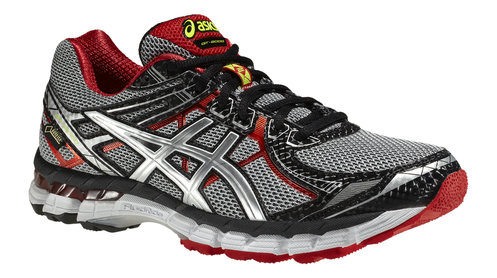 Asics GT-2000 2 - Gore-Tex - Herr - T3PQN-9091 - Black / Lightning / Red Pepper (Vår/Sommar 2014)