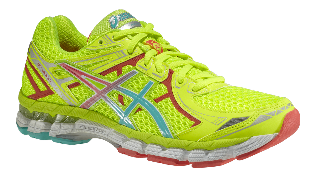 Asics GT-2000 2  - Dam - T3P8N-0470 - Flash Yellow / Emerald / Hot Coral