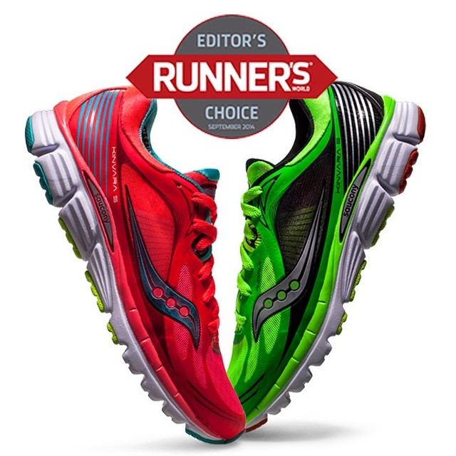 Saucony Kinvara 5 - Editors Choice i Runners World USA. Foto: Saucony Instagram