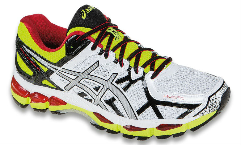 Asics Gel-Kayano 21 (T4H2N-0191)  - Herr - White / Lightning / Flash Yellow