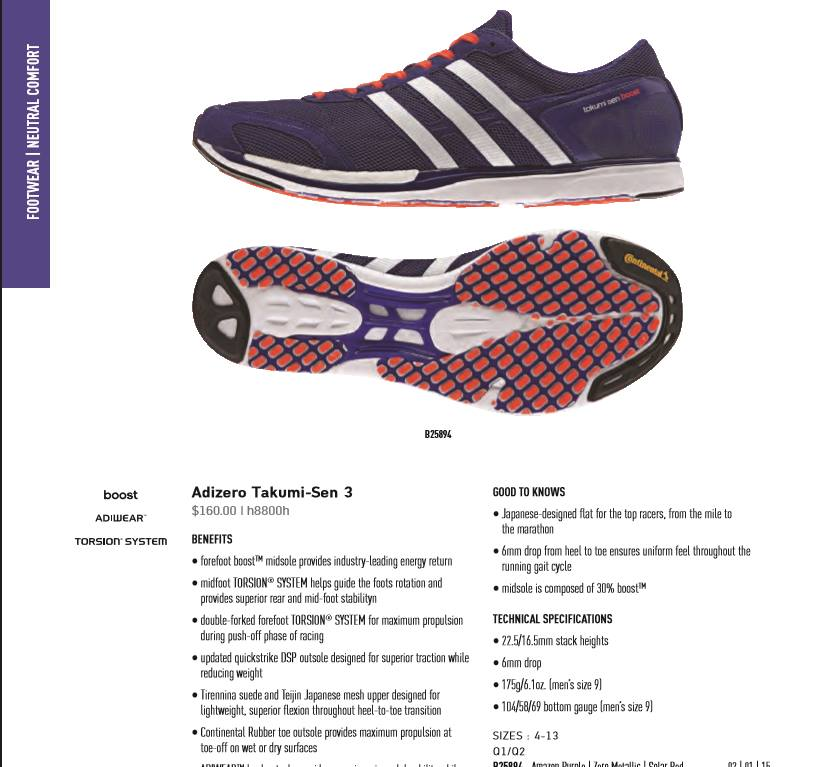 Adidas Produktkatalog