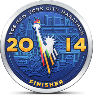 New York City Marathon Finisher 2014