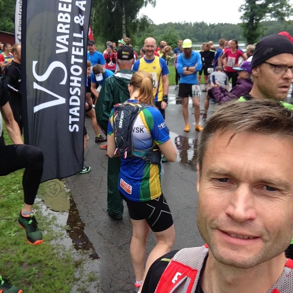 Laddad för start i Bocksten TrailRun