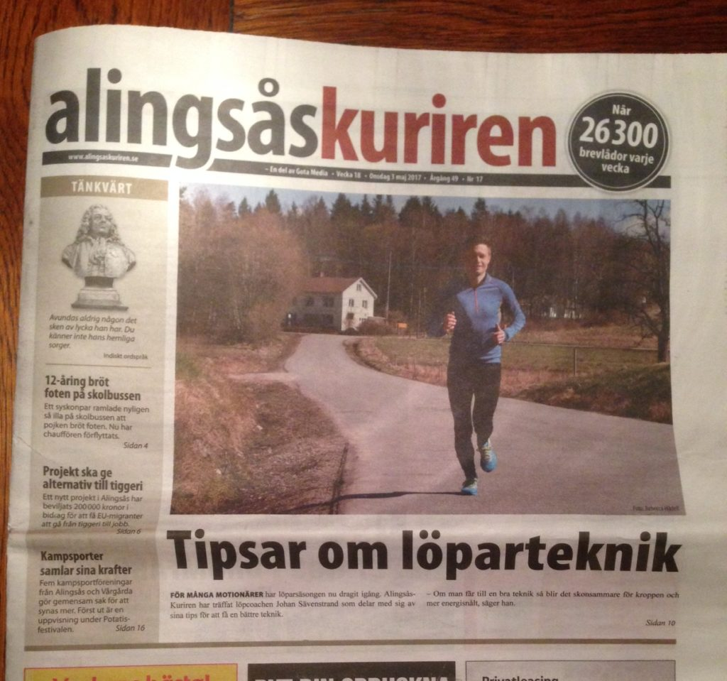 Tipsar om Löparteknik i AlingsåsKuriren